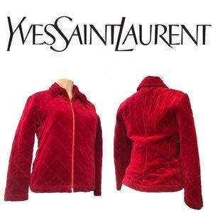Yves Saint Laurent encore Red Velvet Jacket